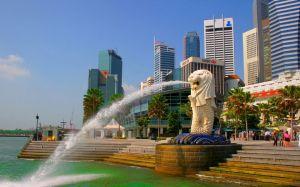 Du lịch Singapore - Garden By the Bay - Marina Bay Sand, bay chiều SQMI
